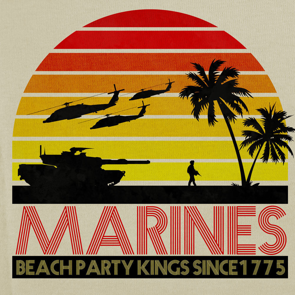 Marines Beach Party Kings T-Shirt