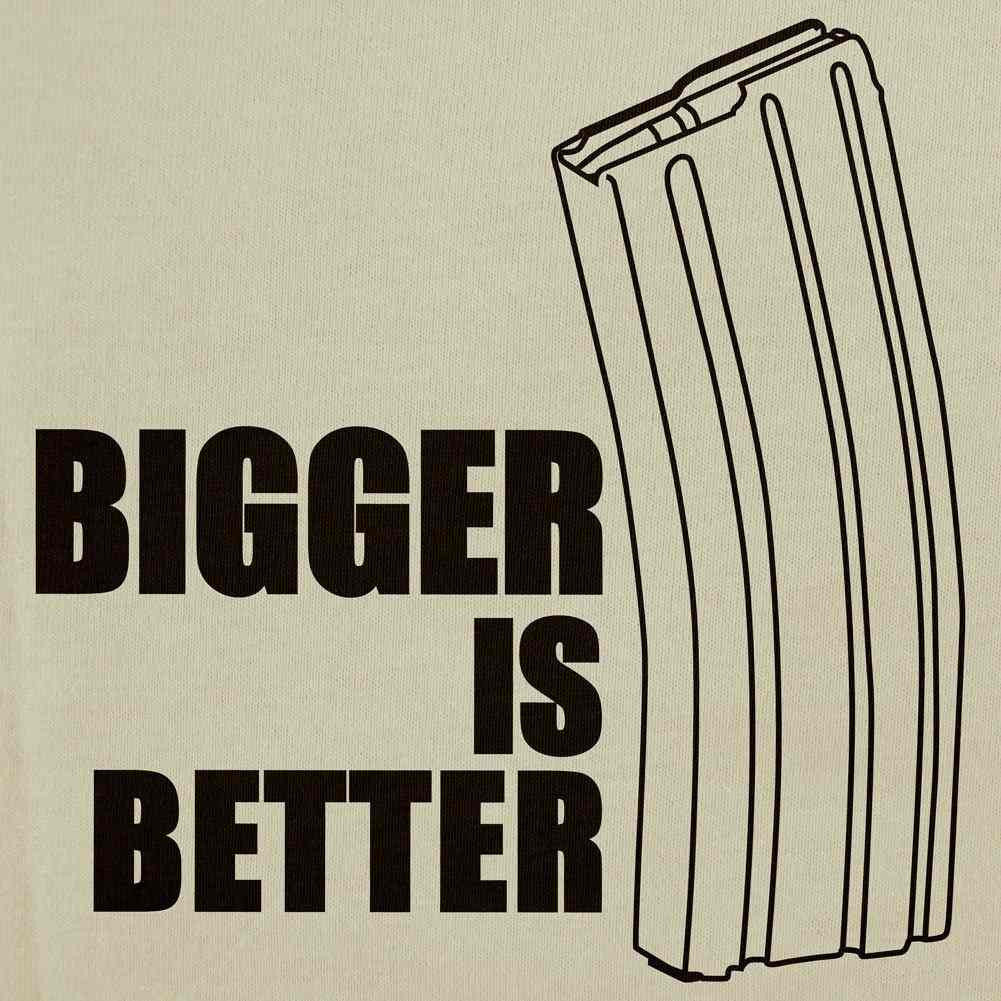 Bigger is Better T-Shirt - Sm - Heather Grey