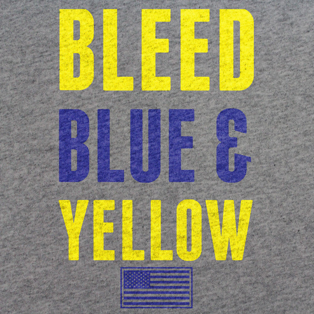 Air Force Bleed Blue and Yellow T-Shirt - Sm - Heather Grey