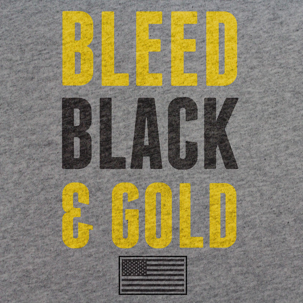 Army Bleed Black and Gold T-Shirt - Sm - Heather Grey