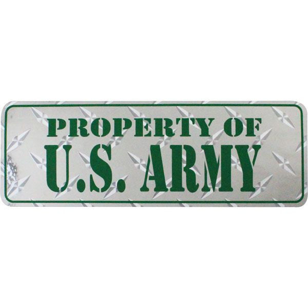 Property of U.S. Army Diamond Cut Bumper Sticker