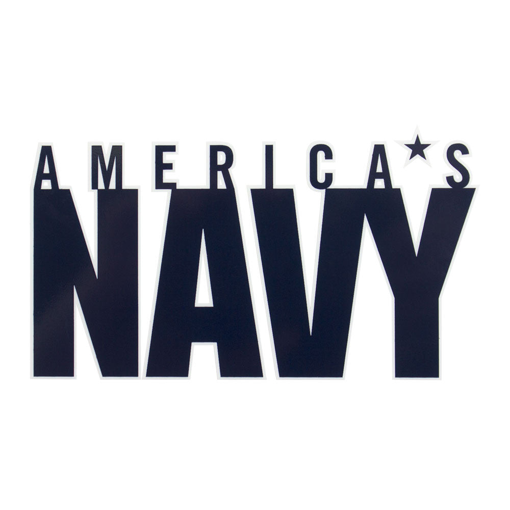 America's Navy Clear Decal