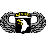 101st Airborne With Wings 5 Inch Decal