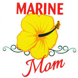 Marine Mom Clear Decal
