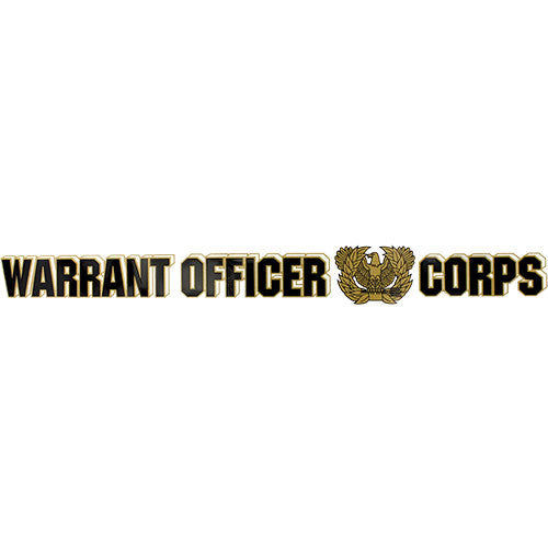 Warrant Officer Corps Clear Window Strip