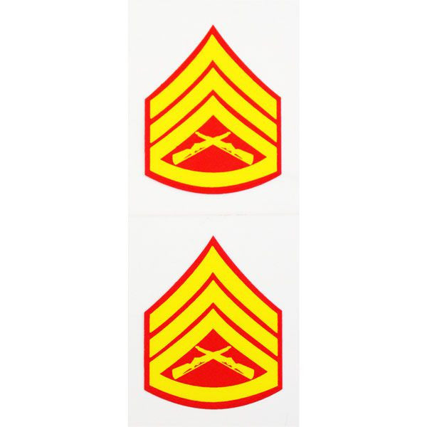 E-6 Staff Sergeant Two Piece Clear Decal