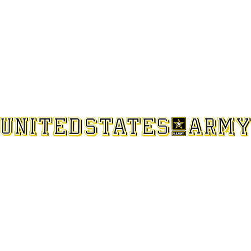 U.S. Army With Star Logo Clear Window Strip