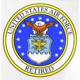 Air Force Retired with Air Force Seal Decal