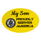 My Son Is In The Army Round Clear Decal
