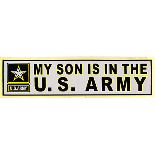 My Son Is In The U.S. Army Metallic Bumper Sticker