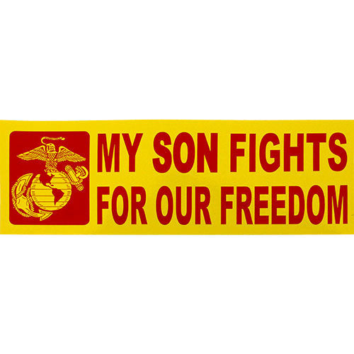 My Son Fights For Our Freedom Bumper Sticker
