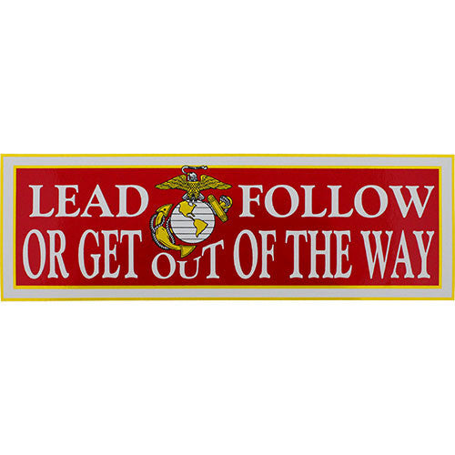 Lead Follow Or Get Out Of The Way Bumper Sticker