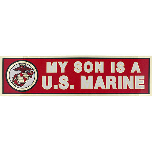 My Son Is A U.S. Marine Metallic Bumper Sticker