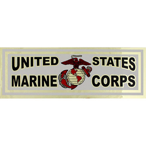 United States Marine Corps Metallic Bumper Sticker