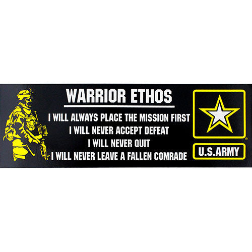 Warrior Ethos Bumper Sticker