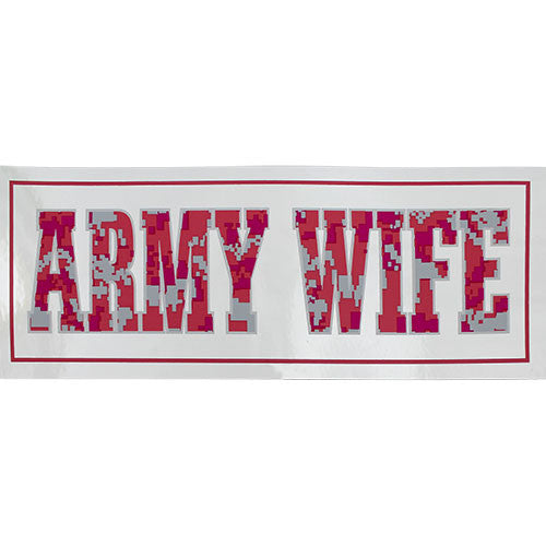 Army Wife Metallic Bumper Sticker