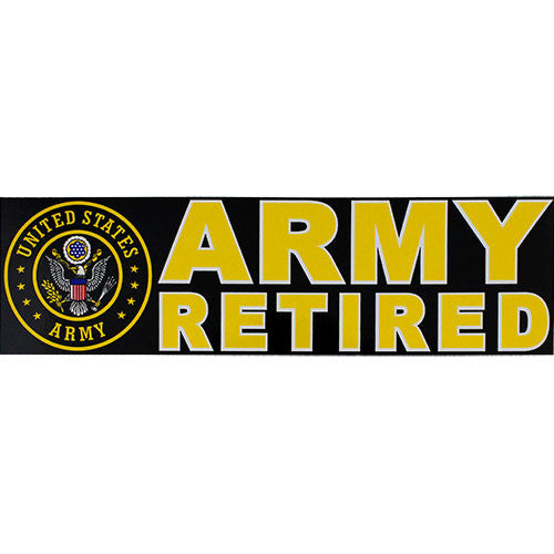 Army Retired With Seal Bumper Sticker