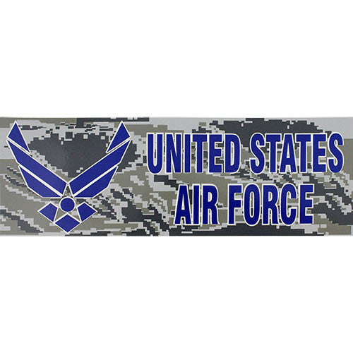United States Air Force Camo Bumper Sticker