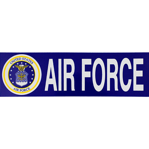 Air Force With Seal Bumper Sticker