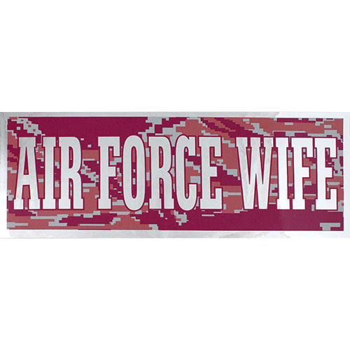Air Force Wife Pink Metallic Bumper Sticker