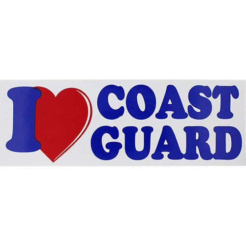 I Love Coast Guard Bumper Sticker