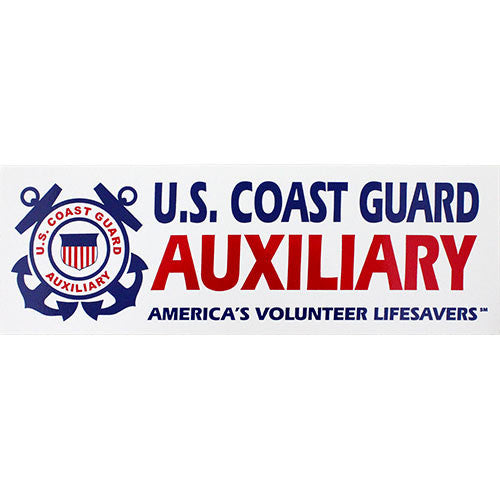 Coast Guard Auxiliary Bumper Sticker