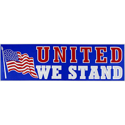 United We Stand Metallic Bumper Sticker