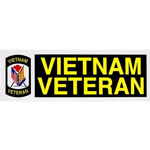 Vietnam Veteran With Flags Bumper Sticker