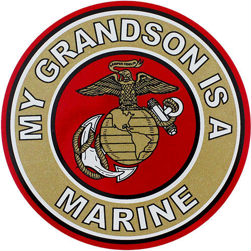 My Grandson Is A Marine Clear Decal