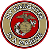 My Daughter Is A Marine Clear Decal