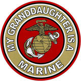 My Granddaughter Is A Marine Clear Decal