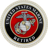 United States Marine Corps Retired Clear Decal