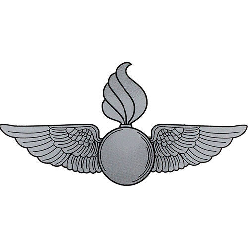 United States Marine Corps Silver Ordnance Wings Decal