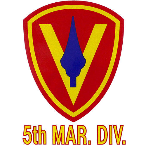 United States Marine Corps 5th Marine Division Clear Decal