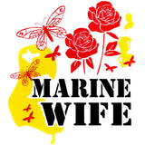 Marine Wife Clear Decal