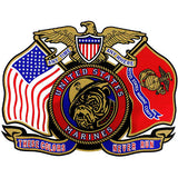These Colors Never Run USMC Clear Decal