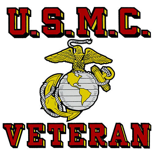 USMC Veteran Clear Decal