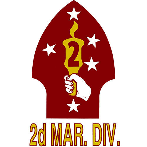 2nd Marine Division Clear Decal