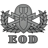 Explosive Ordnance Disposal Clear Decal