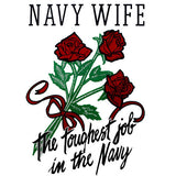 Navy Wife The Toughest Job In The Navy Clear Decal