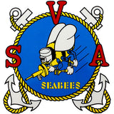 Seabee Veterans Of America Clear Decal