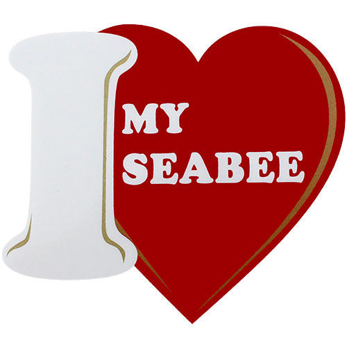 I Love My Seabee Clear Decal