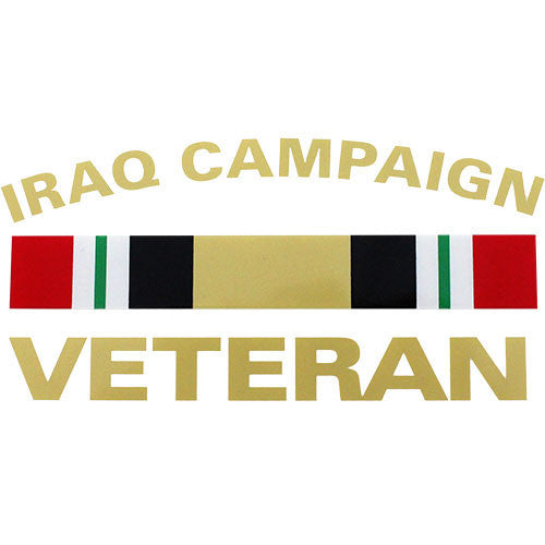 Iraq Campaign Veteran With Ribbon Clear Decal