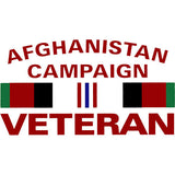Afghanistan Campaign Veteran With Ribbon Clear Decal