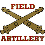 Field Artillery Clear Decal