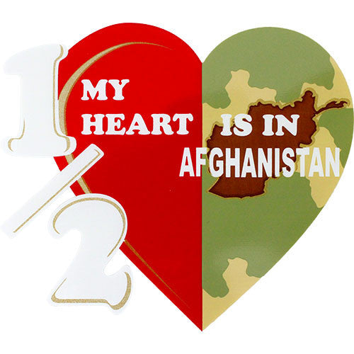 Half My Heart Is In Afghanistan Clear Decal
