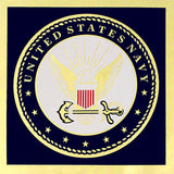Navy With Seal Metallic Decal