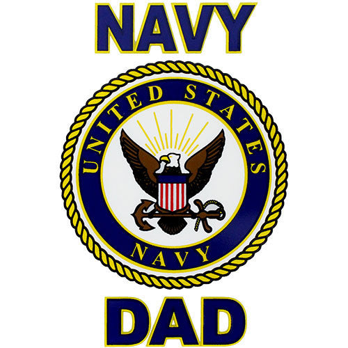 Navy Dad Clear Decal