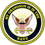 My Grandson Is In The Navy Clear Decal