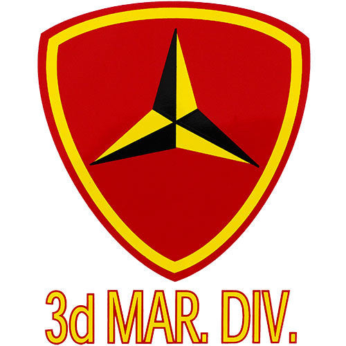 3rd Marine Division Clear Decal